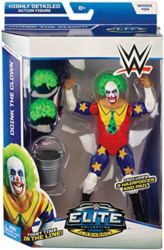 Amazon.com: DOINK THE CLOWN - WWE ELITE 34 MATTEL TOY WRESTLING ACTION FIGURE by Wrestling: Toys & Games