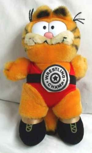 Vintage Plush 10 Garfield the Cat Wrestling Champ Doll @ niftywarehouse.com