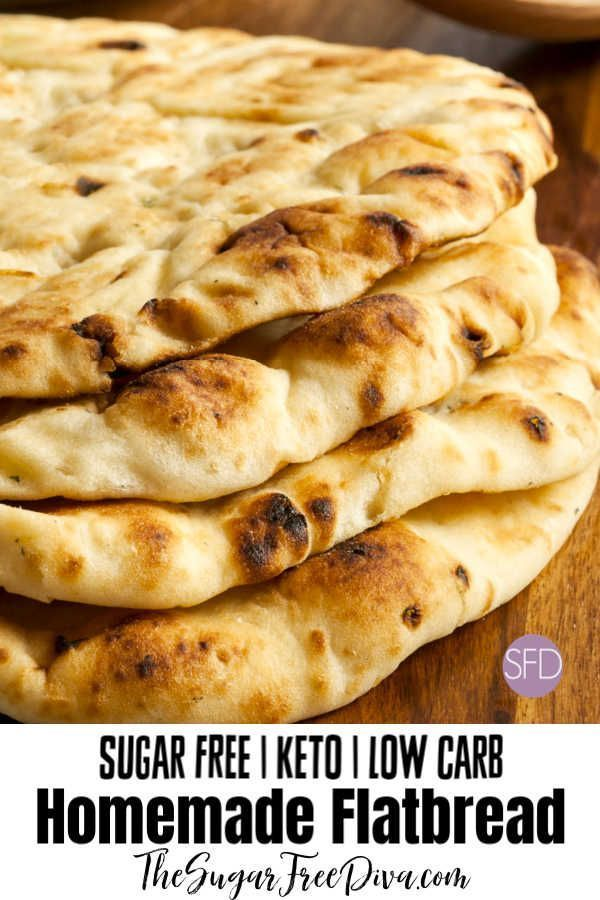 Keto Low Carb Fladenbrot #keto #lowcarb #bread #crust #recipe
