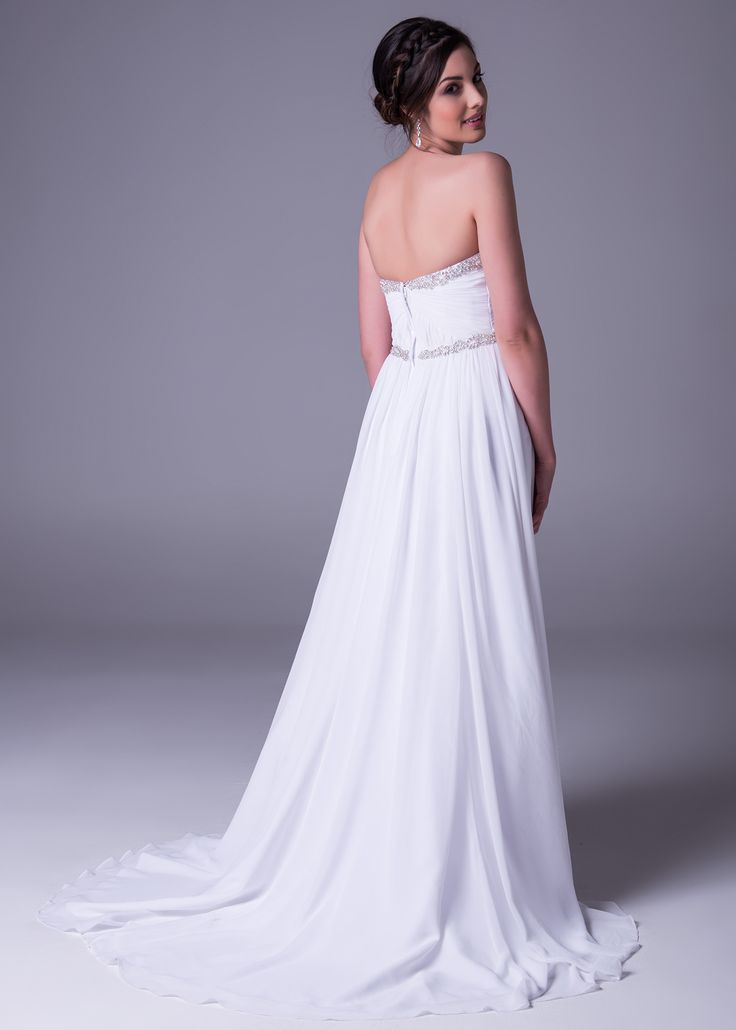 Make your groom lose his breath! Expect more #dreamy #dresses in soft whites, made of flowing fabrics naturally exuding #chic, bohemian #glamour. Book a free fitting in this new style in-store at Bride&co. Style >> WPD17824   #wedding #weddingdresses #southafrica #brideandco #newcollection #love #feminine #beautiful #whitewedding #bride