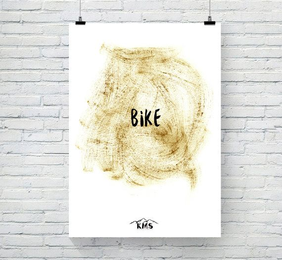 BIKE ART Printable. Pint Art Poster. Posters by KeepMakingSmiles