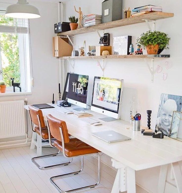 Second Home Decorating Ideas: Two Desks Or One Long One??