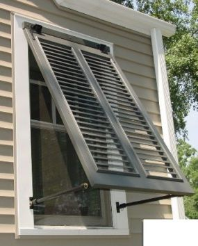 Bahama shutters shutters and trellis pinte for Alternatives to exterior shutters