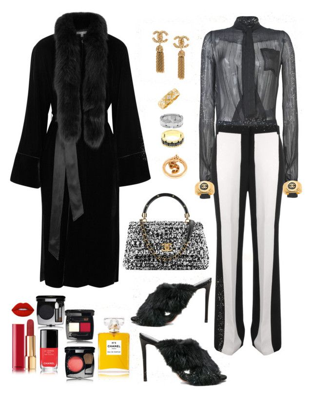 """""""Untitled #818"""" by lianatzelese on Polyvore featuring Aquazzura, Victoria, Victoria Beckham, Elizabeth and James, Chanel and Lime Crime"""