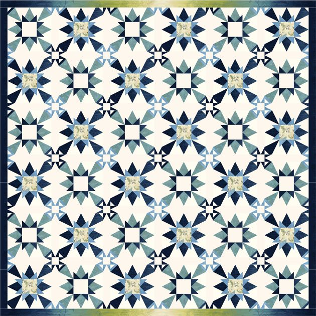 Free Snowflake Quilting Stencil : 1000+ images about Blue and white quilts on Pinterest White quilts, Quilt kits and Storms
