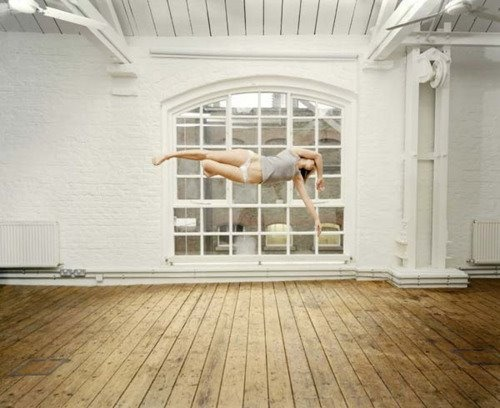 Sam Taylor Wood - Gracefully Suspended. Be sure to see the rest of the series.