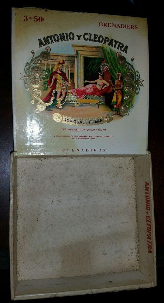 Vintage & Antique Antonio Y Cleopatra Cigar Box Grenadiers FREE SHIPPING
