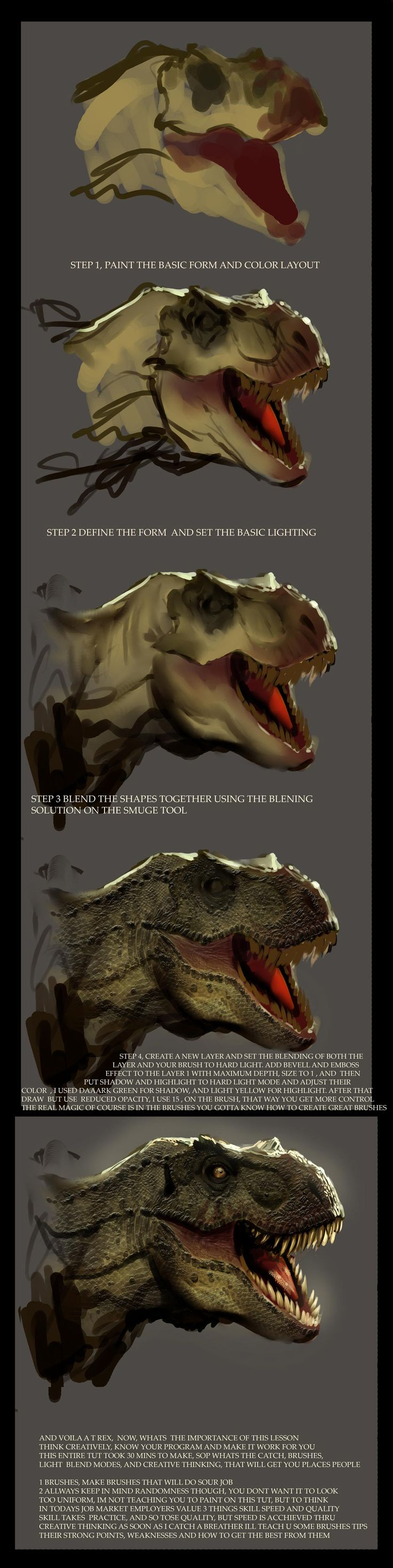 a dinosaur scale tut by *nebezial on deviantART #tutorial #drawing #painting…