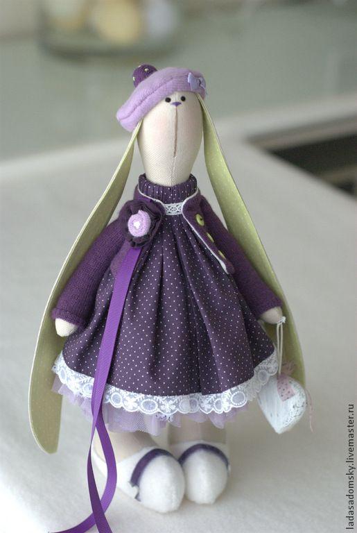 """Купить Зайка Fiore - 32 см """" - фиолетовый, зайка, зайка девочка, зайка игрушка"""