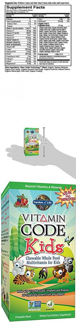 garden of life vegetarian supplement for kids vitamin code kids chewable raw whole food
