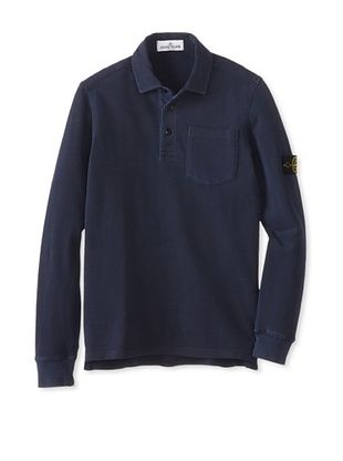 53% OFF Stone Island Kid's Pigment Polo (Blue)
