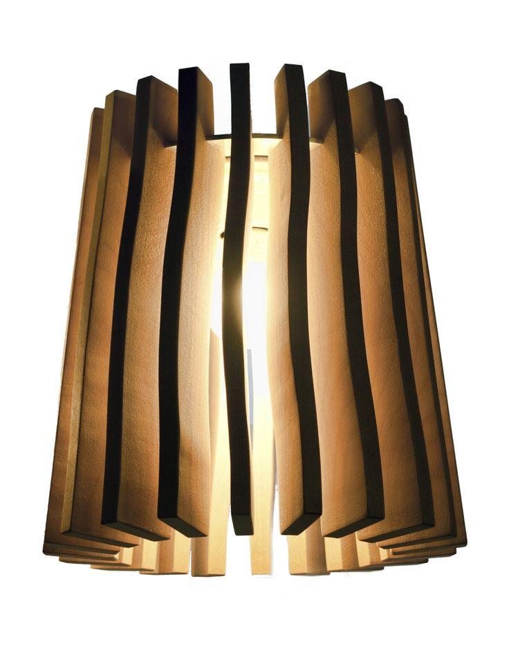 "Our wooden lamp called ""Wellamo"". Finnish birch"