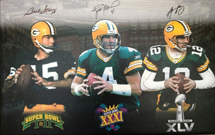 3 of the best quarterbacks in NFL history and they were/are all Packers players! Go Pack Go!