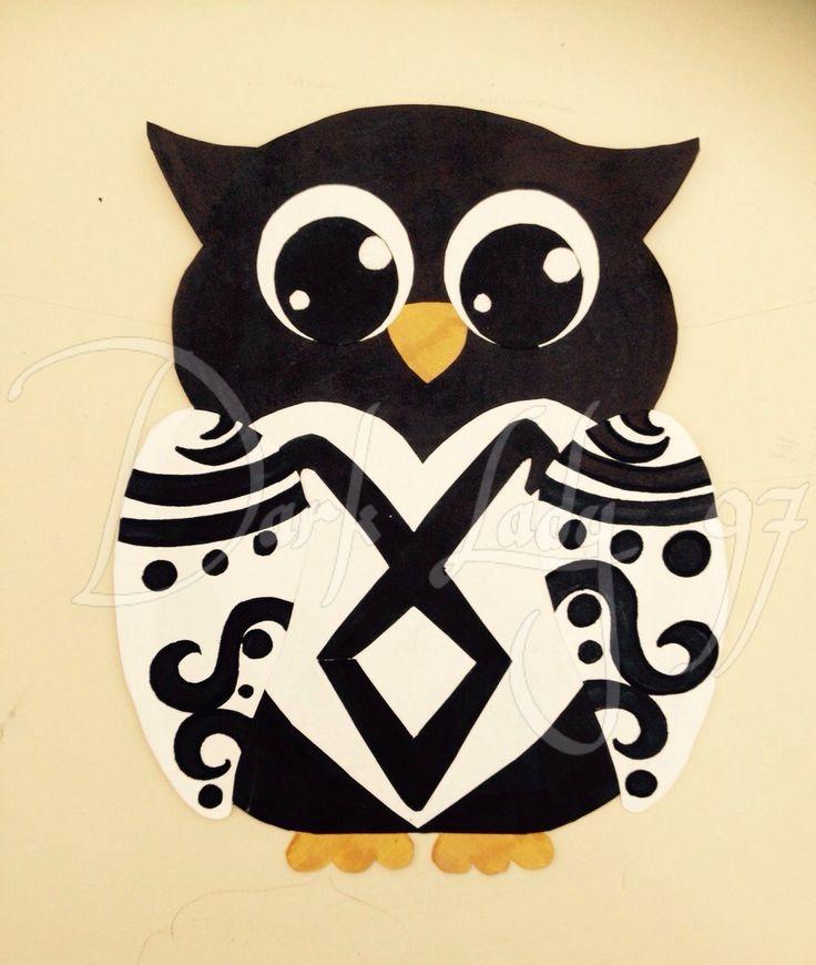 owl shadow hunters angel's rune collage by Chiara Rigoni // Dark Lady 97
