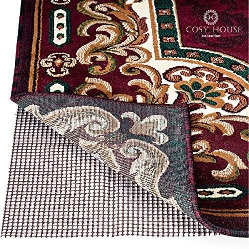 High Quality Non-Slip Area Rug Pads by Cosy House - Fully Washable Best Pad for Firm Hold on Oriental Traditional or Contemporary Rugs & Mats on Hard Surface Floors Like Wood Tile or Cement (5 x 7)
