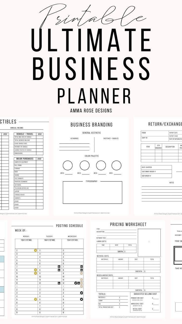 Business Planner Printable | Business Planner PDF | Business Planning | Business Planner | Business Bundle | 2019 Business | Small Business