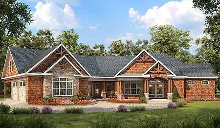 Plan 36028dk Angled Craftsman House Plan With Bonus