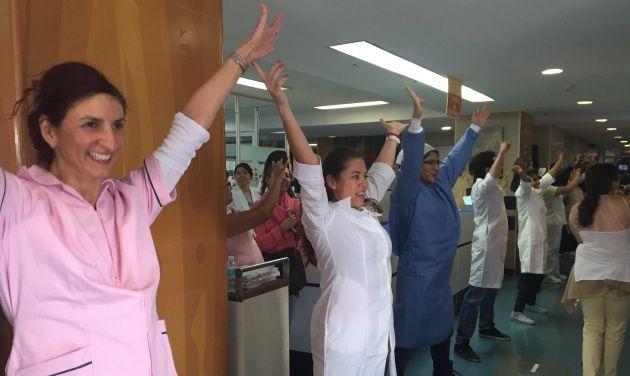 Te ❤ México esta padrisimo  El video de una coreografía realizada en un hospital público supera los 12 millones de reproducciones en Facebook.
