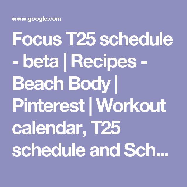 Best 25+ T25 schedule ideas on Pinterest T 25 workout schedule - workout calendar