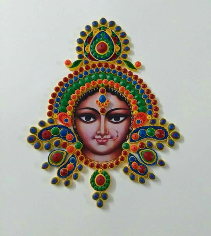 My first attempt in making quilled Durga..made on an order for a dear friend. Inspired by Suganthi from Daydreams.