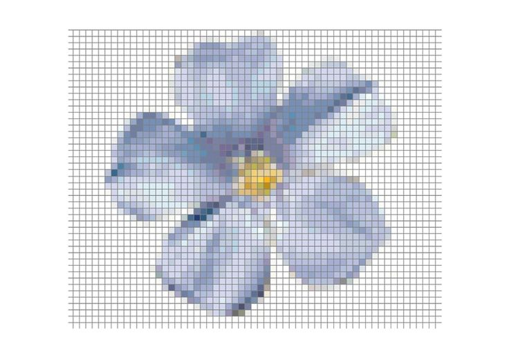 Lovely free blue flower. Simple on linen, just lovely.