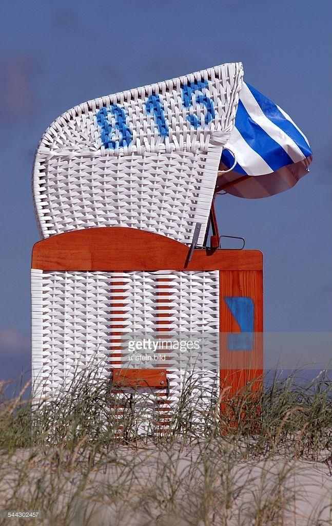 Strandkorb auf Amrum.