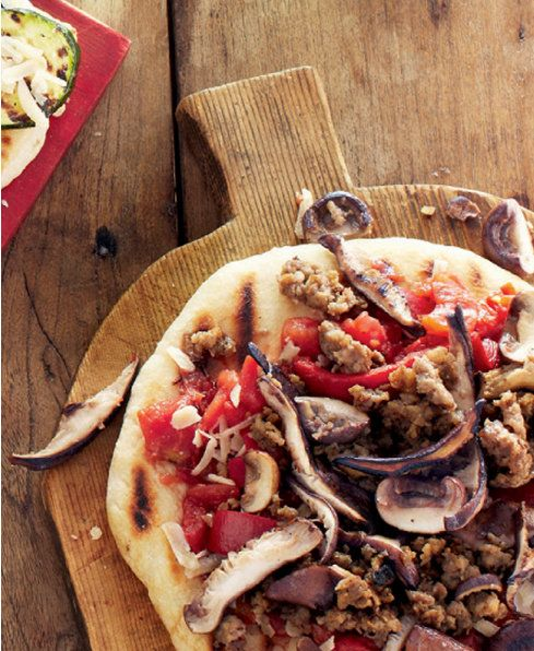 Pizza with Sausage & Mushrooms