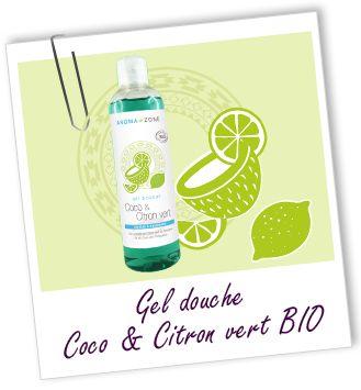 Gel douche BIO Coco & Citron vert Aroma-Zone