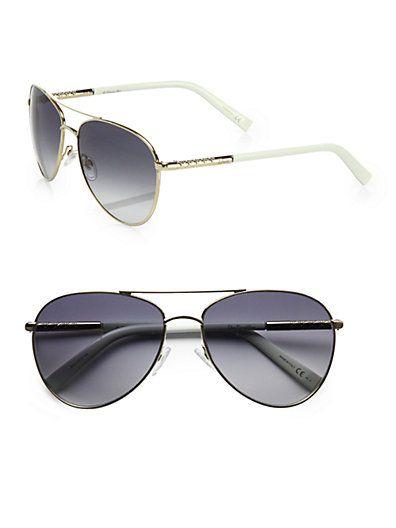 I found the perfect aviator sunglasses for Spring 2013!!  Dior - Picadilly 2 Metal Aviator Sunglasses - Saks.com