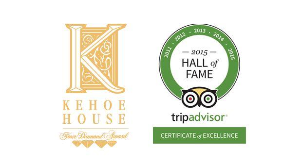 Kehoe House Receives TripAdvisor Honor