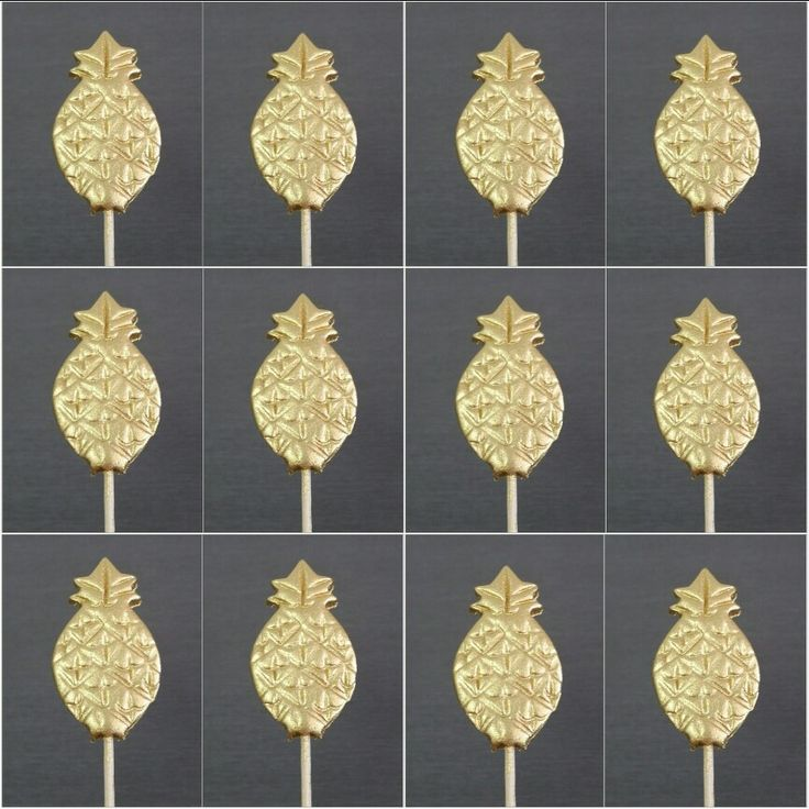 Golden Pineapple Cupcake Toppers