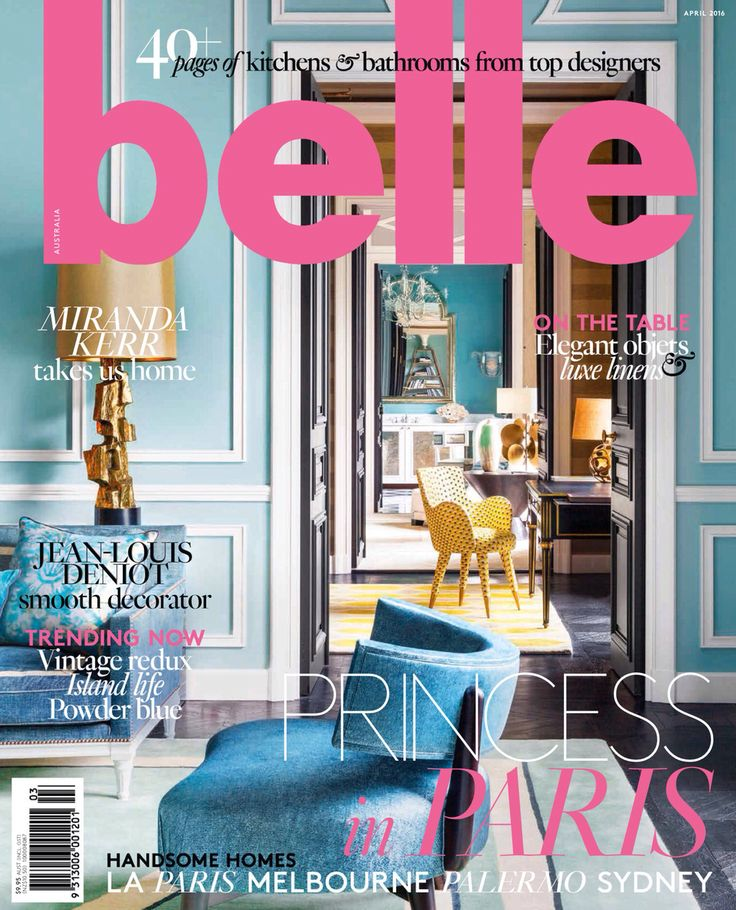 Belle Magazine kitchen and bathroom special 2016