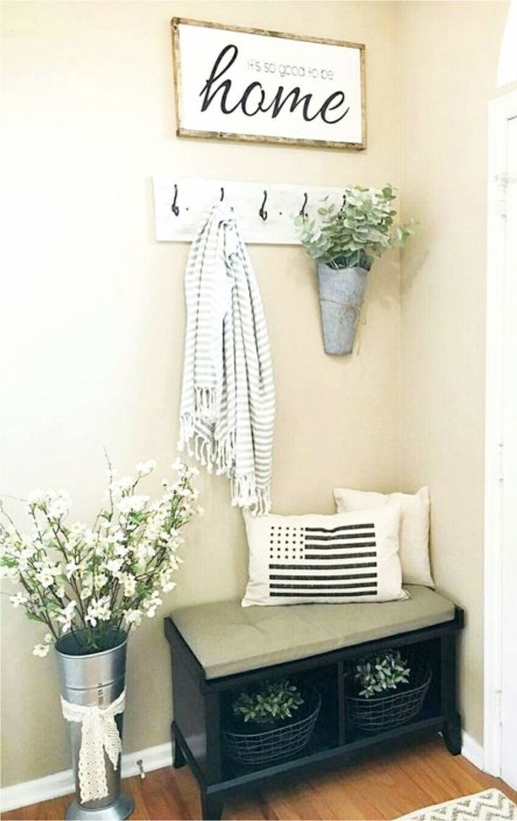 small foyers / small entryways - DIY decorating ideas for small foyers and tiny entryways and entrance halls #apartmentdecorating #diyhomedecor #homedecorideas #foyerideas #entrywayideas #smallfoyerdecorating #foyerdecoratingentrance #foyerdecoratingentryway