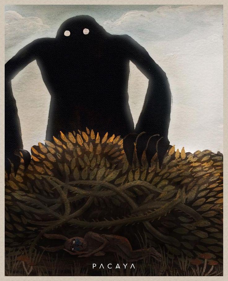 ~ HIDE AND SEEK ~ #gouache #watercolor #painting #illustration #sketch #art #artwork #minisketch #design #hiding #monster #surreal #secret #dark #spooky #pacaya