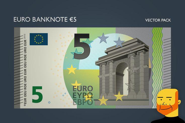 Euro Banknote €5 (Vector) by Paulo Buchinho on Creative Market