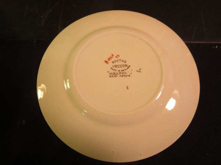 """Booths Hollyhock 6-1/2"""" Bread Plate in Pottery & Glass, Pottery & China, China & Dinnerware   eBay"""