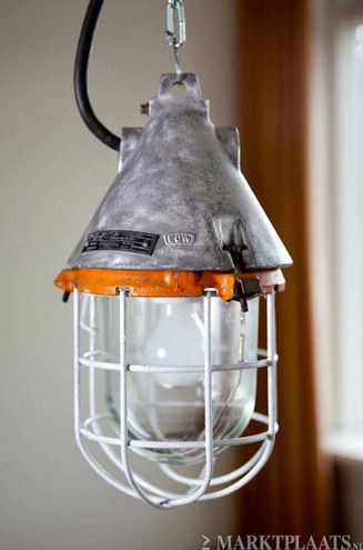 oude explosielamp mijnlamp fabriekslamp industrieel EOW