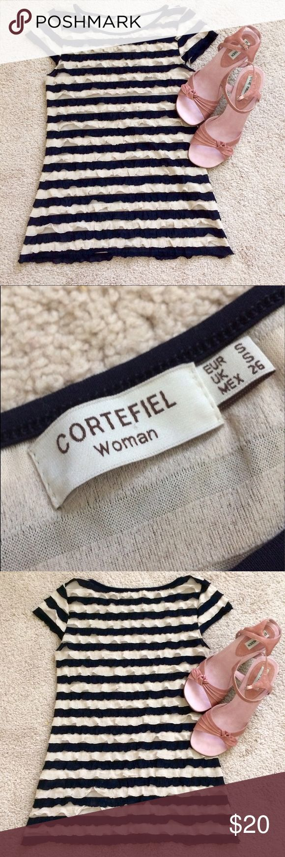 Cortefiel Woman's Shirt 👚📦📦🛍 Very beautiful and simple Cortefiel shirt, Excellent condition worn 2 times. Size:S Cortefiel Tops Tees - Short Sleeve