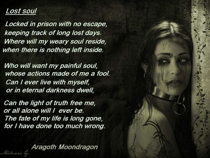 Lost Soul. Gothic Poetry | Aragoth Moondragon's Page ...