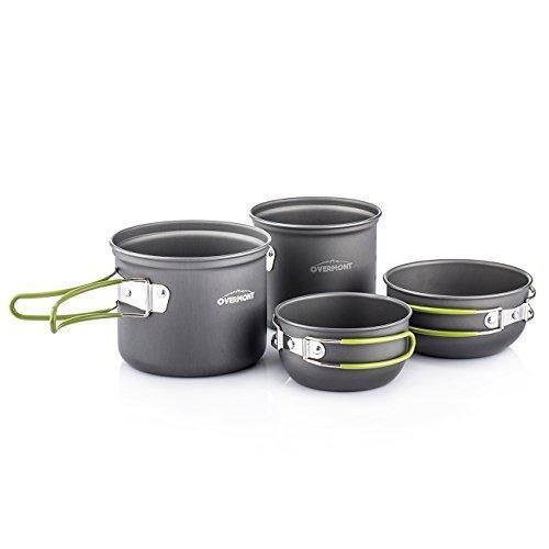 Oferta: 16.99€ Dto: -43%. Comprar Ofertas de Overmont 4pics kit de utensilios de cocina vajilla ollas para camping senderismo excursión al aire libre de aluminio barato. ¡Mira las ofertas!