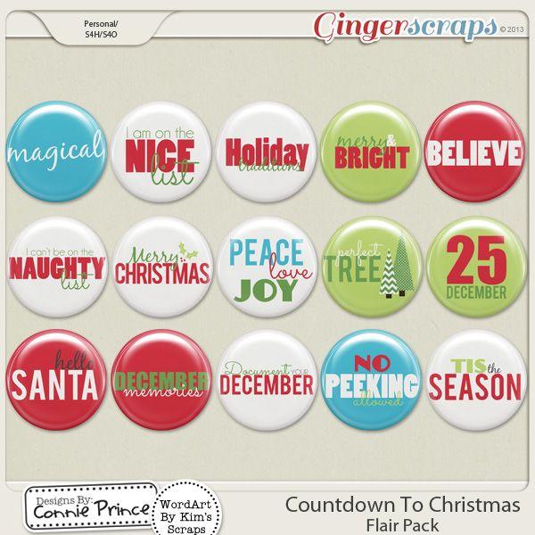 Retiring Soon - Countdown To Christmas - Flair Pack