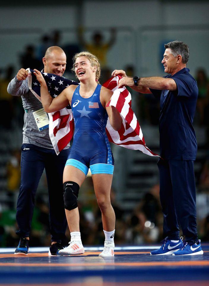<p>Girls wear singlets, too. Helen Maroulis won gold in wrestling, the…