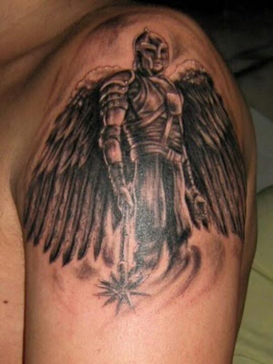 saint michael tattoo inspiration pinterest saint michael tattoo and tatting. Black Bedroom Furniture Sets. Home Design Ideas