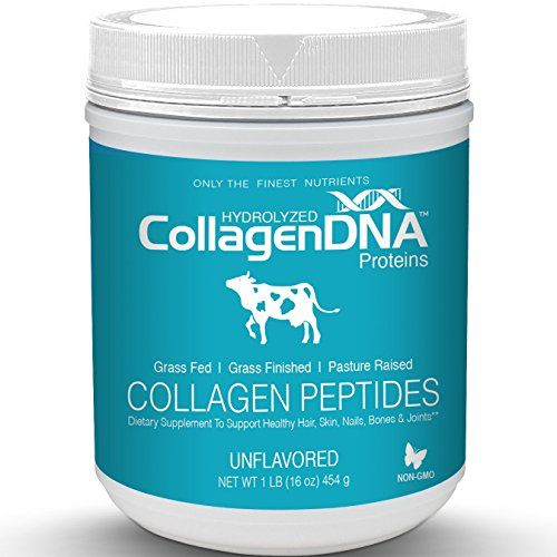 Premium Collagen Peptides From Grass-Fed Pasture Raised Cows - Tasteless Odorless Hydrolyzed and Easy to Mix Protein Powder (Bovine 16oz)