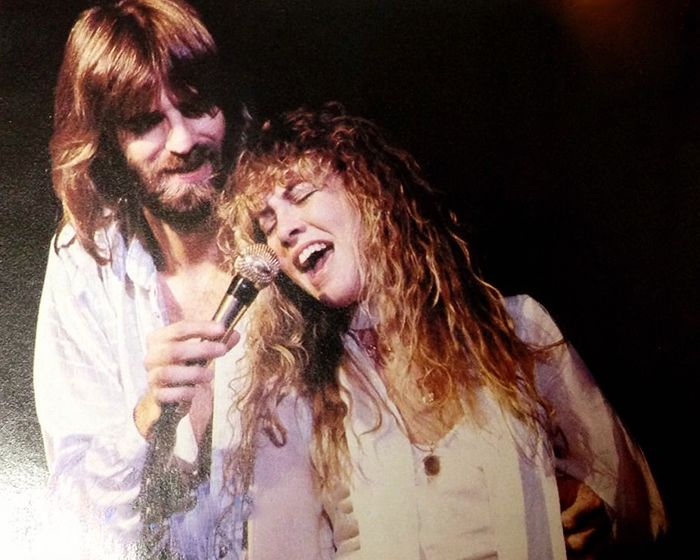 """ Stevie Nicks on stage with Kenny Loggins, 1979. {x} """