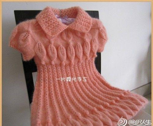 детские вязаные платья спицами