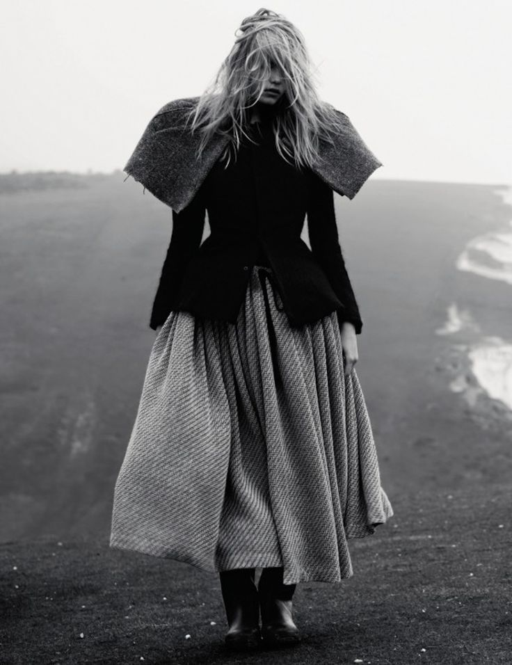 strangelycompelling:  Model - Natasha Poly Photography - Willy Vanderperre Title - The Flower Of The North Publication - AnOther Winter 2008SC|SC on Facebook