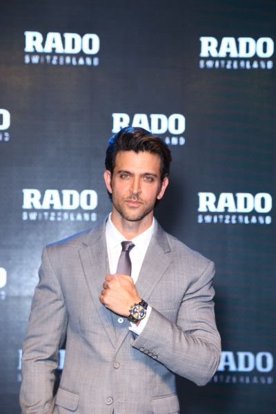 Hrithik Roshan, Brand Ambassador for Rado at the launch of the new DiaMaster collection from Rado.