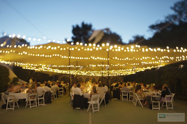 We can serve up a wonderful wedding anywhere, including on your tennis court!