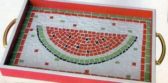 Image result for bandeja com mosaico